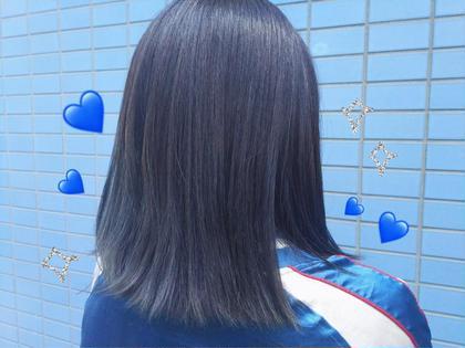 color♡  ❤︎ blue × ash ❤︎ ZEST所属・matsubaraminaのスタイル