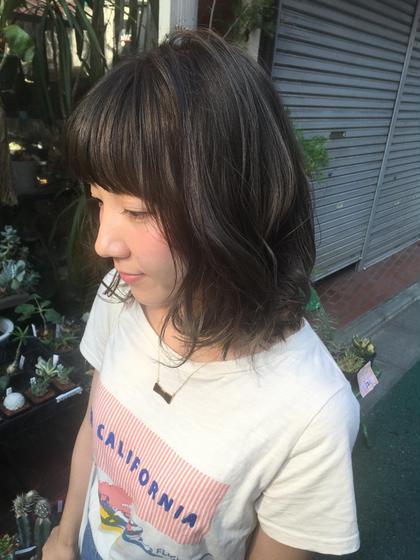 話題の★グレージュカラー 【ブリーチ1回】 antheM所属・店長イシワタ サキのスタイル