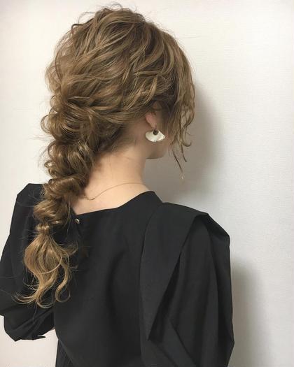 ルーズ編みおろしヘア♪ 結婚式や二次会、おでかけ、デートなどにも❤️ 平田夏希のヘアアレンジ