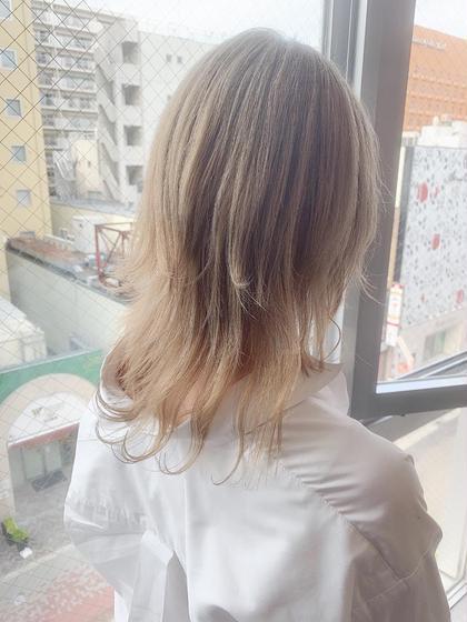 【ハイブリーチ】カラー+ブリーチ×2+トリートメント