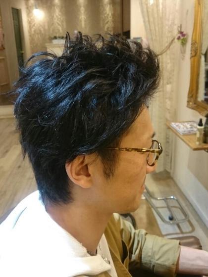 メンズカット  自店のマネージャーをカットさせて頂きました(笑) プラーチェ所属・津曲晃司のスタイル
