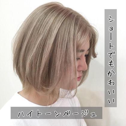 【🌈✨学割U24クーポン❣️✨🌈】小顔前髪カット&低ダメージカラー&内部補修トリートメント✨