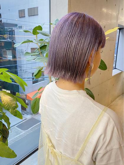 【カット+プレミアムカラー】ダメージレス、クリアな発色、透明感、ツヤ、色持ちなどを求めている方へのワンランク上のカラー