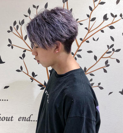 ✔️【メンズ限定】韓国風似合わせカット+韓国風カラー✨髪色で遊びませんか?✨