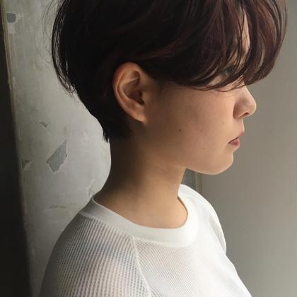 カラー + 似合わせカット + Aujua髪質改善トリートメント