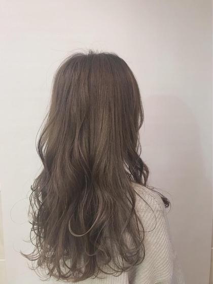 カラー ロング ハニーベージュ❤️ ブリーチしている髪にカラーした場合になります