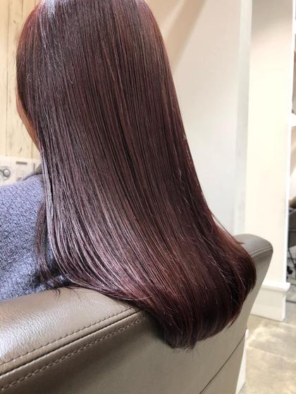 ボルドーカラーは秋冬に鉄板です!傷んだ髪も綺麗に見せることができます!おすすめ!