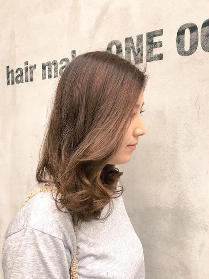 プラチナでくすませて、ミントとマットで赤味消しました!!とっても綺麗です☆★ hair make one003所属・椎葉安純のスタイル