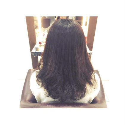 縮毛矯正×デジタルパーマ 縮毛矯正したいけど毛先がストンとなりたくない方にオススメです CoL所属・大平美沙のスタイル