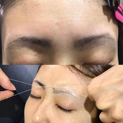 スレッディング 糸で絡めながら産毛や角質を除去し明るい目元にしてくれます Sleek brows west  Japan所属・⁂Chikako⁂のスタイル
