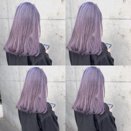 カラー セミロング perfect lavender