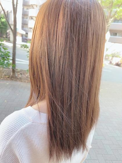 ブリーチなしワンカラー+Aujuaトリートメント🌸(ロング料金別)