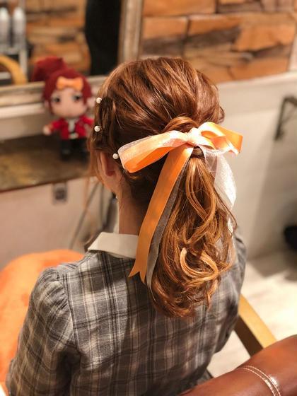 sideMイベントアレンジだよん ヲタク美容師✂︎のヘアアレンジ