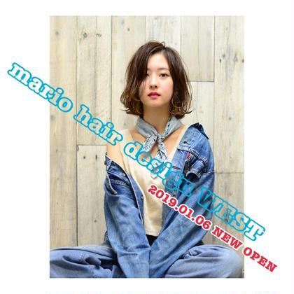 カラー パーマ ミディアム 2019.01.06 NEW OPEN‼️‼️ 【✨mario hair design WEST✨】