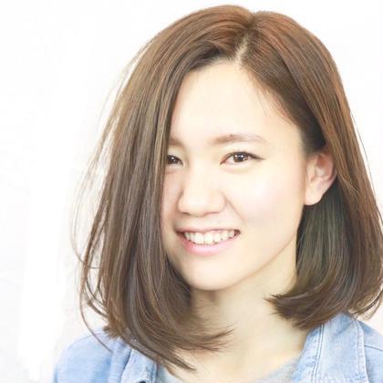 【ご新規様】カット & 艶髪カラー & 超音波トリートメント