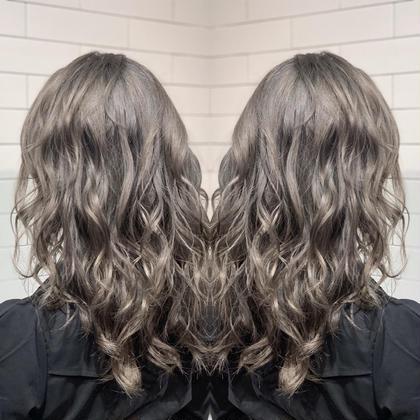 人気NO.2    カット&外国人風カラー&トリートメント   ケアをしながら綺麗な色を出して理想の髪型にします!