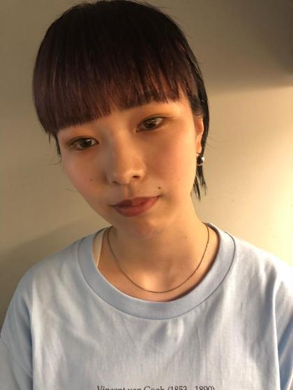 👩🏼前髪カット+アディクシーカラー👩🏼
