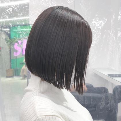 🍀プレミアム地毛風ストレートボブ🍀地毛風ストレート(縮毛矯正)+ボブカット+髪質改善トリートメント🍀