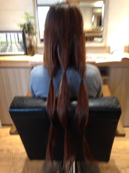 これからばっさりカットしてヘアドネーション(髪の寄付)♪ Kizuna所属・岡田 愛実のスタイル