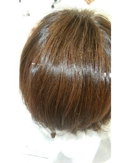 カラーとパーマしてある髪に水素ケア♪ 艶がでています(^o^)