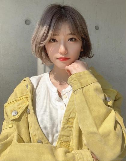 💕透明感ワンカラー+髪質改善(酸熱)トリートメント💕(炭酸Spa付)【+¥1100 Trランクアップ】