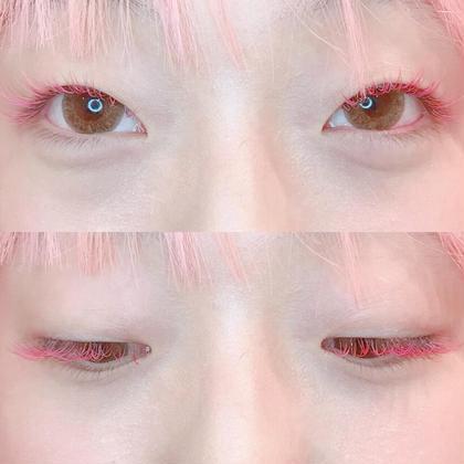 pink × lavender × strawberry 🍓♡ カラーエクステは何色でもご利用出来ます♥ EYELASHSALONLico所属・Lico茶屋町店大阪谷莉乃のフォト