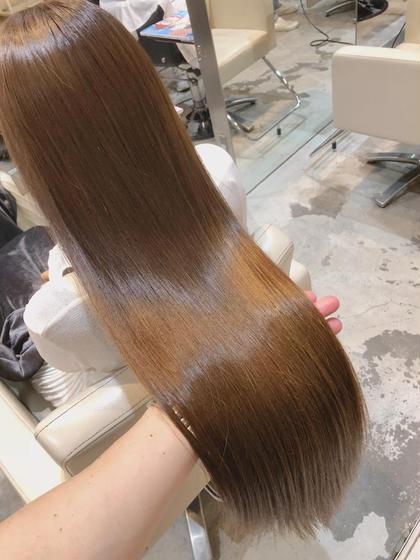 くせ毛スペシャリスト💫カット+ナチュラル縮毛矯正+ツヤ髪カラー+トリートメント💫応援、口コミで超音波アイロンサービス