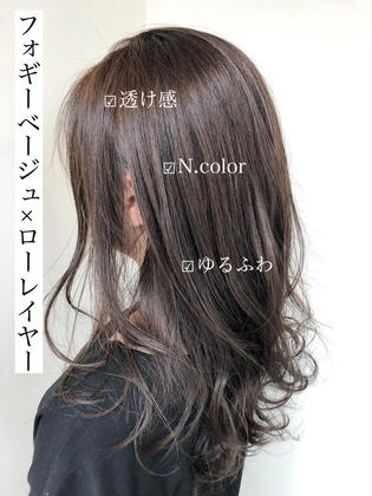 『外国人風』艶カラー+カット+炭酸spaTr ¥13600⇒¥5160
