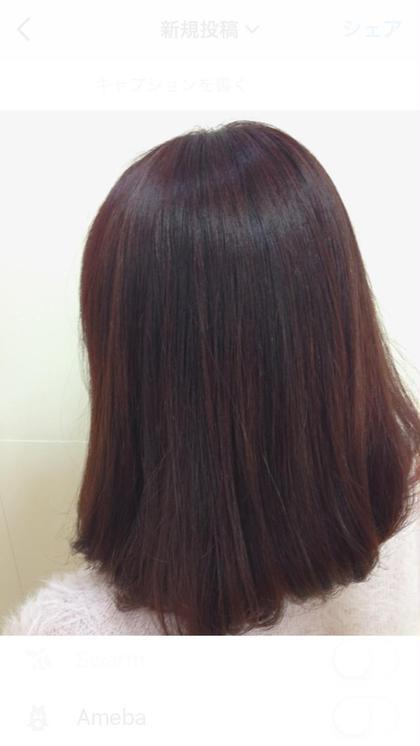 秋冬にぴったりのピンク系カラー 元々、黄色味が強めだったので、 色落ちしても綺麗になるよう、紫を配合しました! いつも黄色くなっていた方も、色落ちを楽しめます!  ピンク系は艶が出てとってもオススメです!  NOA所属・菅原夢舞のスタイル