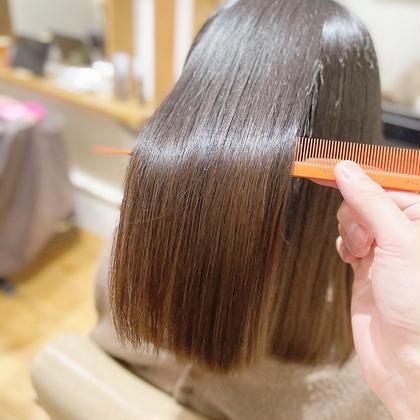 美髪を目指すなら🌸酸熱トリートメント(ハホニコ)+カット+カラー  ¥18800
