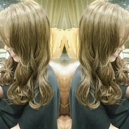 全頭ブリーチなし!3Dハイライトで可愛く外国人風カラー☆ AUBE hair lagoon所属・田辺貴裕のスタイル