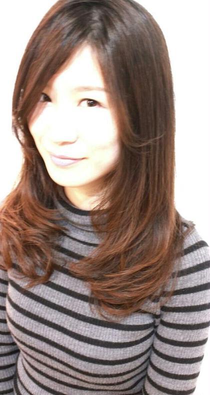 重さを残して毛先に動きを出したカットです★ opshair大橋駅前店所属・池田和範のスタイル