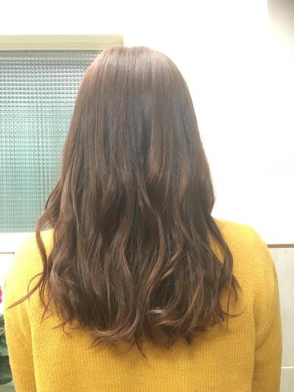 カラー ロング 暗めの髪の毛をブリーチをせずに明るく仕上げました!