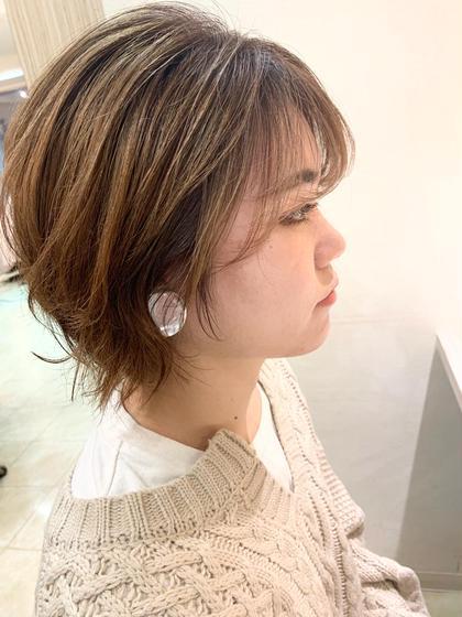 前髪カット+カラー+ケアスパ🥰