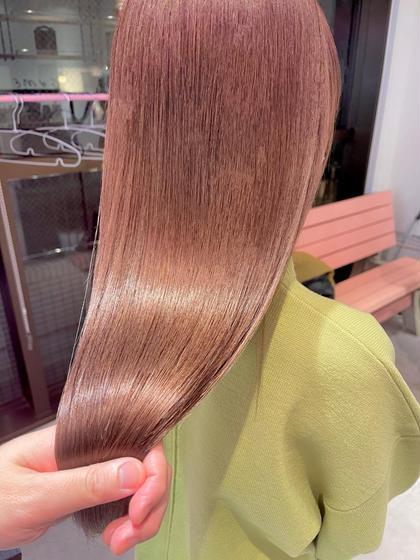 【圧倒的なツヤ髪に】カラー+プリンセストリートメント        #髪質改善#韓国#ハイトーン