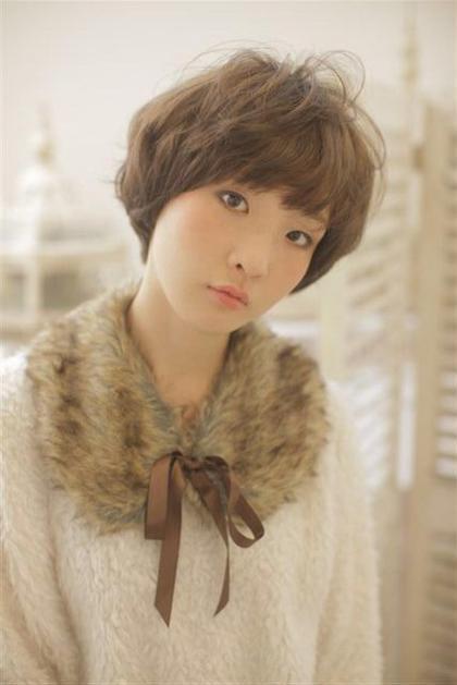 冬の小顔ショートスタイル EIGHT umeda所属・エイトウメダのスタイル