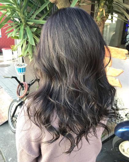 明るくなりすぎた髪にワンカラーで💕✨