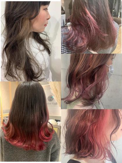 【インナーカラー/裾カラー🌿部分的に明るくしたい方】ケアブリーチ➕カラー➕髪質改善シャンプー➕トリートメント