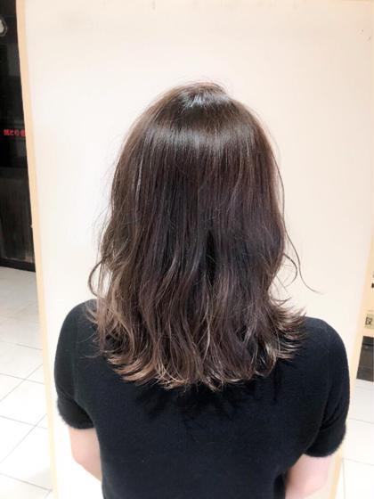 松嶋みきのミディアムのヘアスタイル