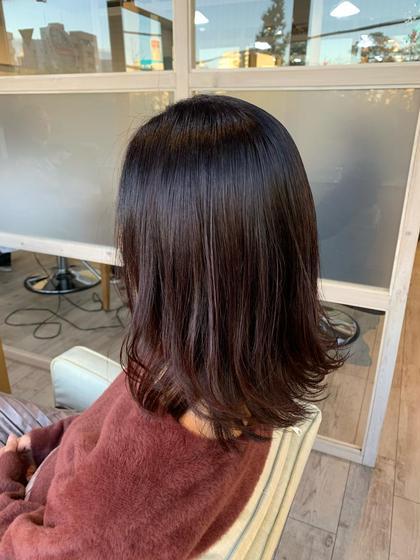 2番人気 前髪カット+似合わせカラー+オーガニックトリートメント