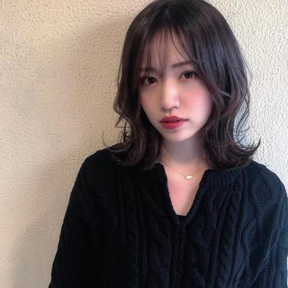 【ブリーチ無し透明感カラー+カット】70%OFF