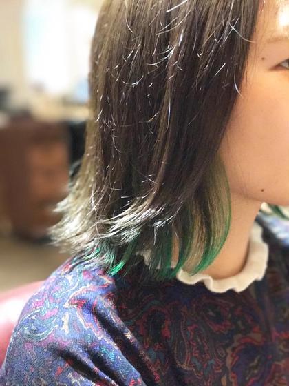 【今だけ!】カラー & ワンポイント・デザインカラー(ブリーチなし)