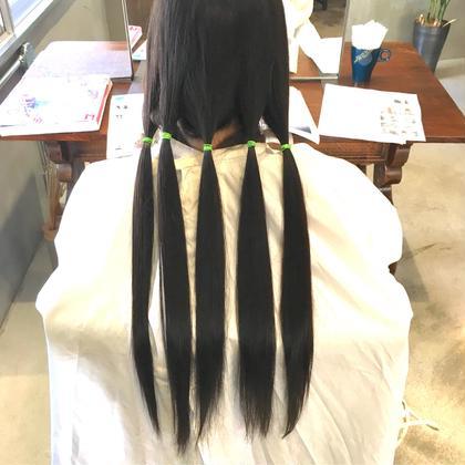 ロング 「ヘアドネーション」もご案内しております  20cm〜の髪のボランティアに是非ご協力下さい。