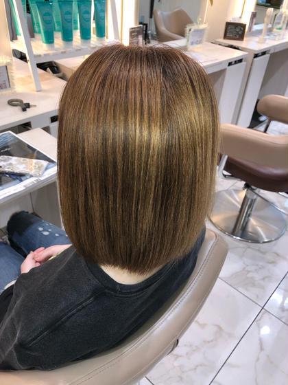 """【毛先を丸く柔らかく】 自然なストレートヘアーが手に入る髪質改善縮毛矯正   →毛先を丸く柔らかい縮毛矯正をしたい →クセがでてまとまらない →湿気で膨らむ →髪質の変化でパサつく髪にツヤが欲しい →髪をキレイにしたい、髪質を改善したい   髪質やクセに合わせてオーダーメイドの薬剤調合で""""あなただけ""""のうるツヤストレートヘアーで美髪にします  やれば髪が傷むと言われていた縮毛矯正はもぅ過去のもの  髪質改善縮毛矯正は、髪に優しく、手触り質感、ツヤなど全てにおいて最高のパフォーマンスをしてくれます  回数を重ねれば重ねるほどに美しくより柔らかいなめらかな質感、圧倒的なツヤ髪になっていくのが髪質改善縮毛矯正です。"""