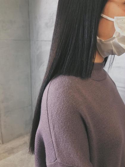 髪質改善とカットで扱いやすく酸熱トリートメント + カット