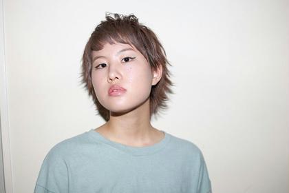パープルアッシュのウルフ☆ tranq hair design所属・イケベミホのスタイル