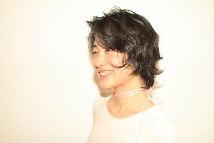 ショートのパーマスタイル! ヘルシーでセクシー! (  )inni hair design works所属・北村綾美のスタイル