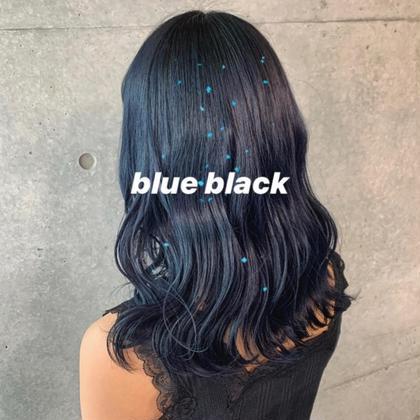 ❌赤み消し❌💙🖤おしゃれで自然な黒髪ブルーブラック💙🖤👩🏻プラストリミングカット+うる艶トリートメント
