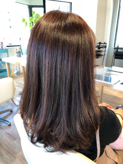 #サラサラ#ツヤツヤ#ロング#復元カラー#エヴァーリーフtr#ベリーアッシュ# hair design Lien所属・長尾浩史のスタイル
