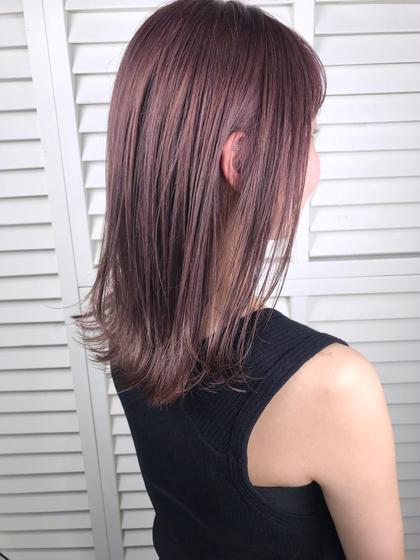 その他 カラー パーマ ヘアアレンジ ミディアム Real salon work💈 【 bleach / pink lavender / midium 】 . 切りっぱなしのミディアムは 束感Cutでパラっとした質感に🍃 . ブリーチする時は ダメージ軽減ケアブリーチ使用しましょう⭕️ ピンクにラベンダーmixで 色味に淡さをプラス✔️ . 秋は大人めフェミニンにいきましょう💄 . . ブリーチなしのピンクラベンダーは1つ前の投稿に👌🏻 . . #NAKAIstyle #ブリーチ#ピンクラベンダー#切りっぱなしミディアム